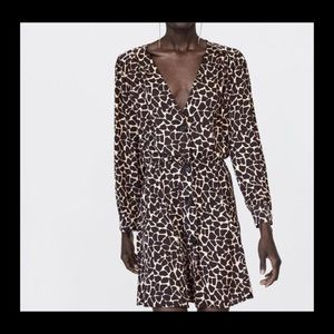 Zara giraffe mini dress sz L